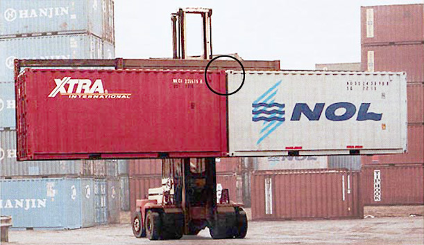 Containers are connected with Quick-Tie